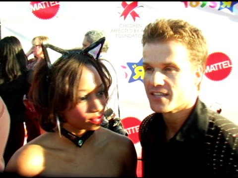 monique coleman and louis van amstel on the show, on their halloween costumes, on why they support the cause at the 13th annual dream halloween... - monique coleman stock videos & royalty-free footage