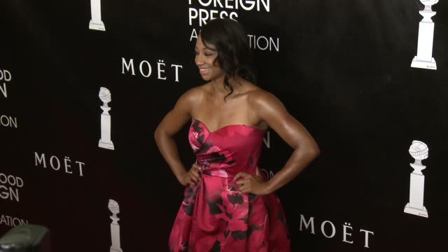 vídeos de stock, filmes e b-roll de monique coleman at the hollywood foreign press association's annual grants banquet dinner at the beverly wilshire four seasons hotel on august 13... - four seasons hotel