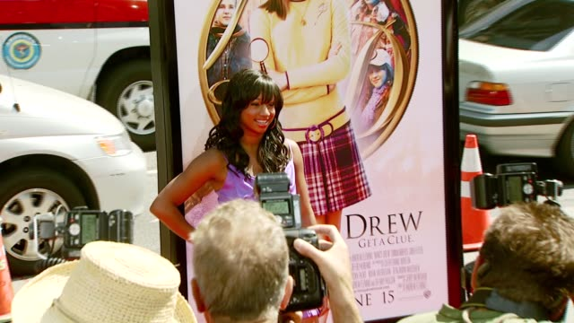 monique coleman at the 'nancy drew' premiere at grauman's chinese theatre in hollywood, california on june 10, 2007. - monique coleman stock videos & royalty-free footage