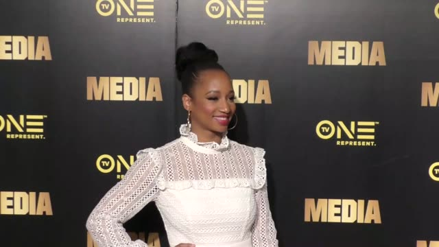 """monique coleman at the special preview screening of tv one's upcoming original movie """"media"""" on february 13, 2017 in west hollywood, california. - monique coleman stock videos & royalty-free footage"""