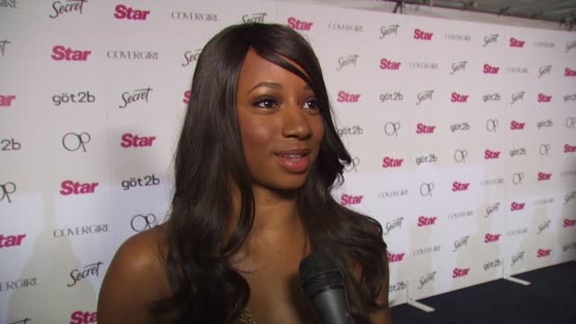 monique coleman on being a fan of star magazine, on why she likes the magazine, on if she's a fan of dancing with the stars, and on if she twitter's... - monique coleman stock videos & royalty-free footage