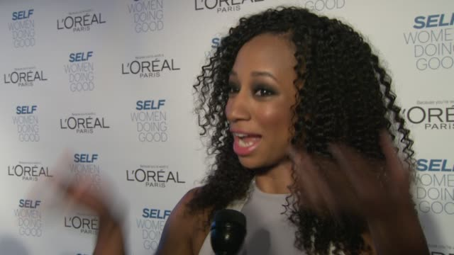 monique coleman on the self awards, on being a presenter to jessica greer morris, how she got involved, empowering women at self magazine's women... - monique coleman stock videos & royalty-free footage