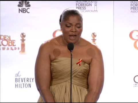 Mo'Nique on public images not addressing abuse issues on the Oscar buzz for this film at the 67th Annual Golden Globe Awards Press Room at Beverly...