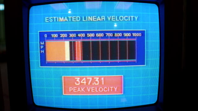 ecu monitor screen of 'estimated linear velocity' machine - 1990 stock videos & royalty-free footage