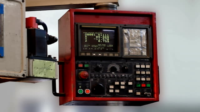 cnc monitor - motor video stock e b–roll