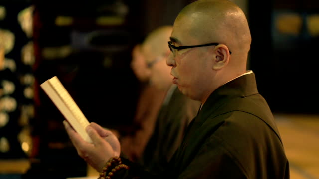 monk ceremony in temple - holy book stock videos and b-roll footage