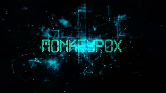 animazione del titolo monkeypox - vettore della malattia video stock e b–roll