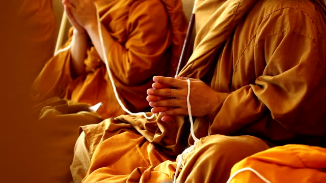 monks of the religious rituals - cambodia stock videos and b-roll footage