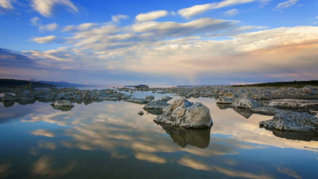 mono lake sunset, time lapse - 4k resolution stock videos & royalty-free footage