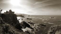 monochromatic coastline background
