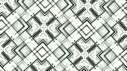 Monochromatic patterns and designs on revolving solid sheet of wallpaper. Computerized motion graphics of home decor and interior designing