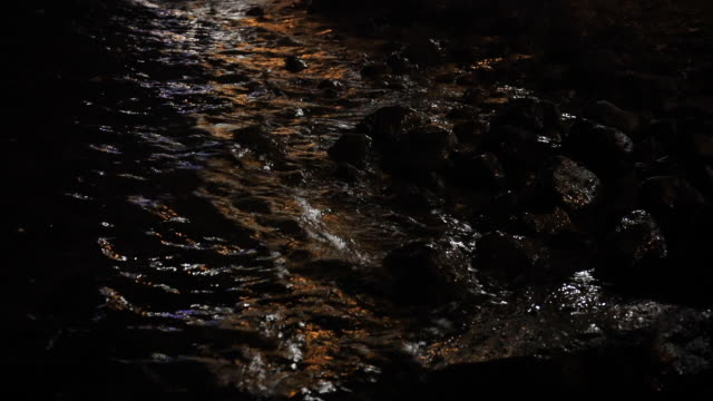 monochrome, abstract, background, composition of stones submerged in sea water with visible texture - rock stock videos & royalty-free footage