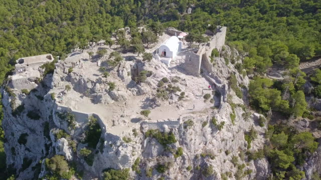 monolithos castle - rhodes dodecanese islands stock videos & royalty-free footage