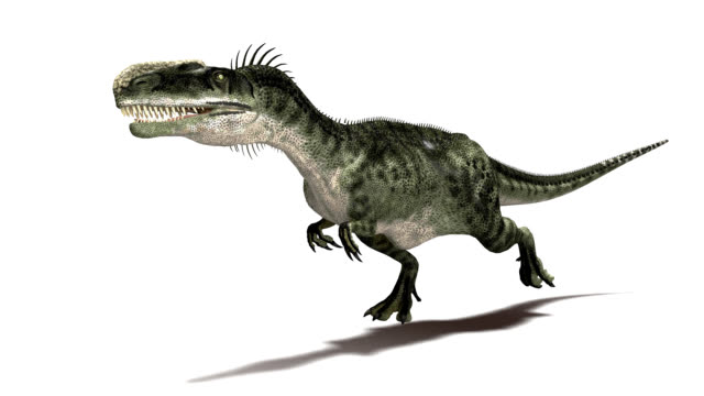 monolophosaurus dinosaur running - jurassic stock videos & royalty-free footage