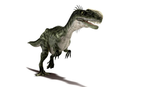 monolophosaurus dinosaur walking - 恐竜点の映像素材/bロール