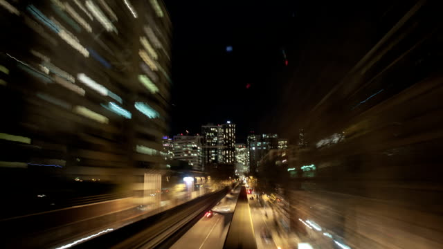 monorail zeitraffer - einschienenbahn stock-videos und b-roll-filmmaterial