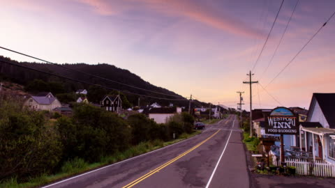 monring in small town - time lapse - small town america stock videos & royalty-free footage