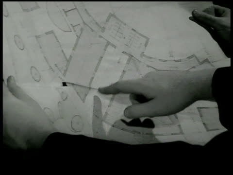 monsignor john patrick carrollabbing walking in open field w/ another priest don antonio rebolta cu blueprints orphan boys working tilling soil... - 1946 stock-videos und b-roll-filmmaterial