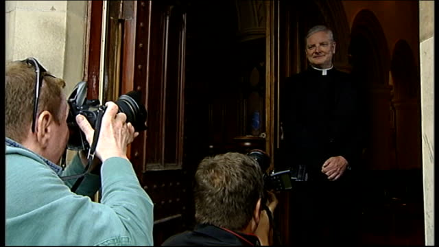 monsignor leo cushley announced as new archbishop of st andrews and edinburgh scotland edinburgh ext monsignor leo cushley photocall standing in... - archbishop stock videos & royalty-free footage