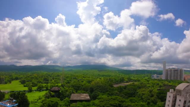 monsoon clouds arriving timelapse - cumulonimbus stock videos & royalty-free footage