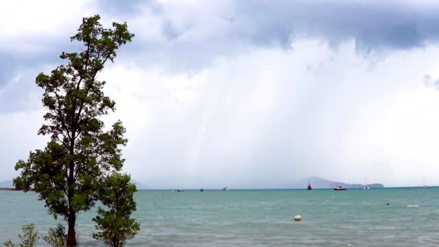 Monsun regn Storm, Ko Lanta, Thailand
