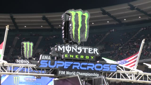 monster energy supercross celebrity night at angel stadium of anaheim on january 19, 2019 in anaheim, california. - angel stadium stock videos & royalty-free footage