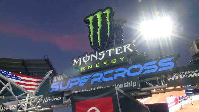 monster energy supercross vip event at angel stadium on january 18, 2020 in anaheim, california. - angel stadium stock videos & royalty-free footage