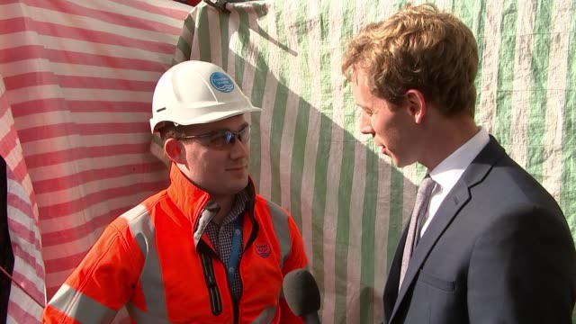 'Monster Fatberg' blocking London sewers Whitechapel EXT Alex Saunders interview SOT On size of fatberg Worker emerging from sewer entrance Man...