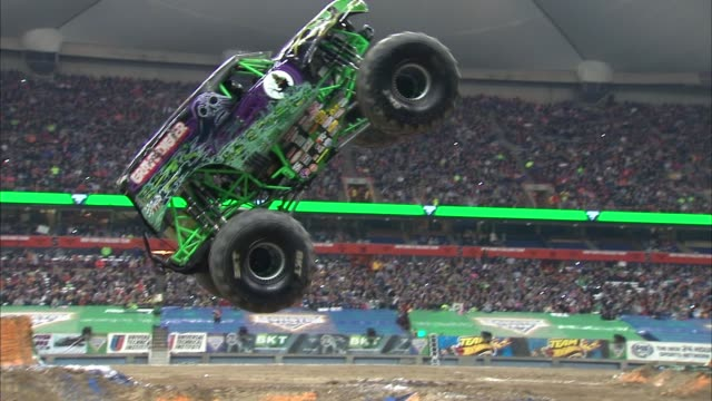 ATMOSPHERE Monster Jam Celebrity Night at Angel Stadium of Anaheim on January 16 2016 in Anaheim California