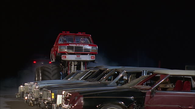 ts monster truck competition, chicago - 1998 stock-videos und b-roll-filmmaterial