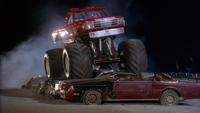 monster truck competition, chicago - 1998 stock-videos und b-roll-filmmaterial