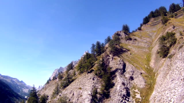 mont blanc heights with cable car - mont blanc stock videos & royalty-free footage
