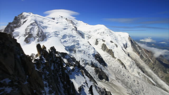 mont blanc massif on summer - mont blanc stock videos & royalty-free footage