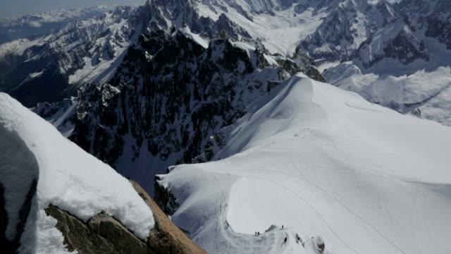mont blanc summit, chamonix, france - mont blanc stock videos & royalty-free footage