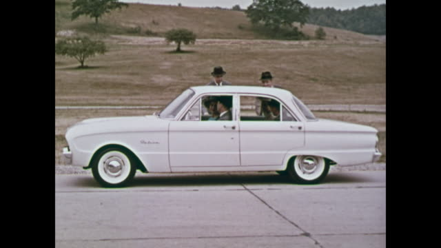 montage:  1960 ford falcon introduction promo film-part 2 of 3 - bonnet stock videos & royalty-free footage