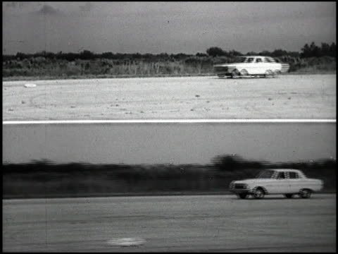 1963 chevy ii in handling test on january 01 1963 in daytona beach florida - chevrolet stock videos & royalty-free footage