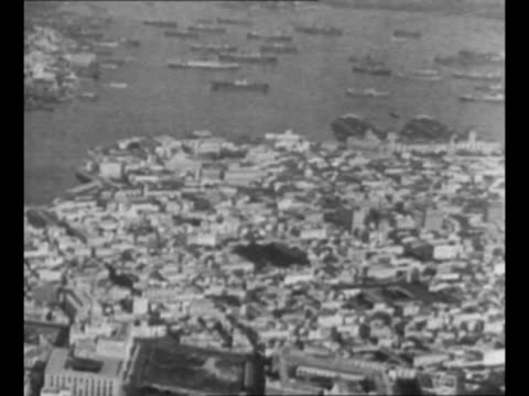 montage aerials havana cuba and harbor the city has become a haven for wouldbe drinkers during us prohibition / montage bartender pours drinks for... - havana stock videos & royalty-free footage