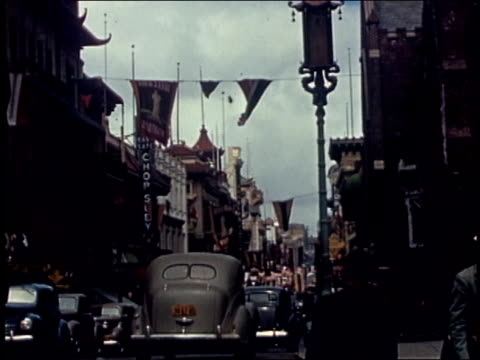 montage -  chinatown in san francisco - 1940年点の映像素材/bロール