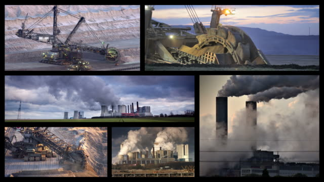 montage: fossil fuels - coal fired power station stock videos & royalty-free footage