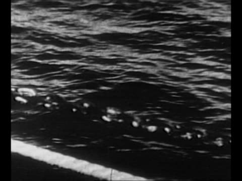 montage ocean water as seen from ship / seagulls swarm land on shore of island / rear shot captain of uscgc itasca looks through field glasses this... - 1937 stock-videos und b-roll-filmmaterial