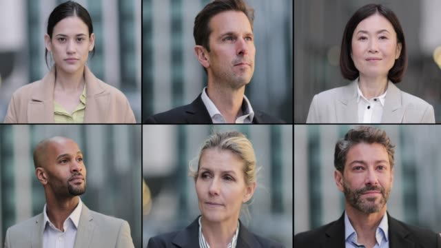 vidéos et rushes de montage of business executive team - film montage