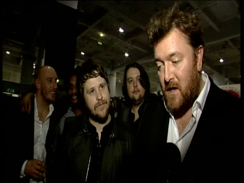 Montage of celebrities talking to press at The Brit Awards 2009 including Alesha Dixon Elbow The Ting Tings Tom Jones Duffy and Lady Gaga London 18...