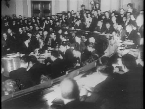 montage of charles lindbergh meeting with members of house foreign affairs committee testifying - charles lindbergh stock videos & royalty-free footage