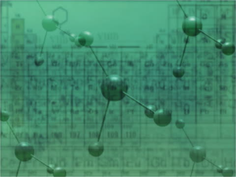 CU CGI Montage of chemical symbols and periodic table of elements