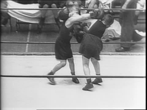 montage of coach spike webb talking to group of young boys / crowd in stands / montage of two young boys billy clark and jolly mulgrew, boxing in... - stool stock videos & royalty-free footage