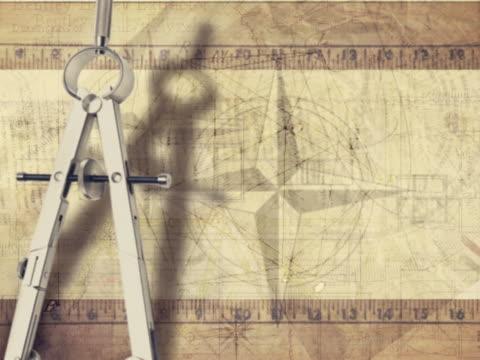 CU CGI Montage of compass and geometric symbols