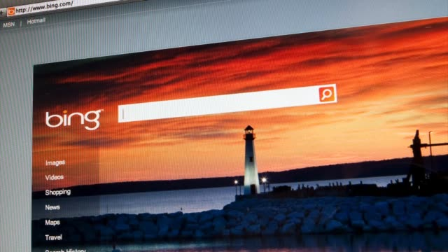 montage of moving still photos of bing website bing search engine on august 31, 2011 in new york, new york - search engine stock videos & royalty-free footage