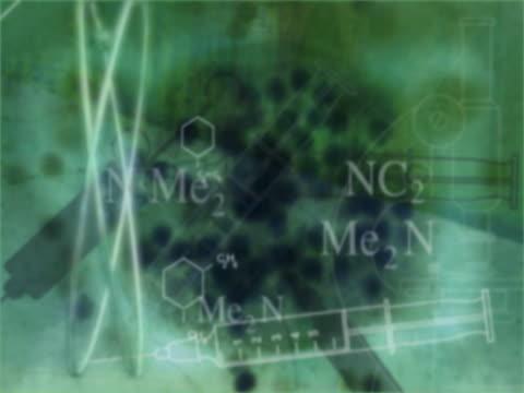 vídeos y material grabado en eventos de stock de cu cgi montage of nuclear medicine  - fórmula química