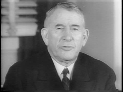 montage of senator alben barkley at desk going through documents stating his reasons for resignation - alben w. barkley stock videos and b-roll footage