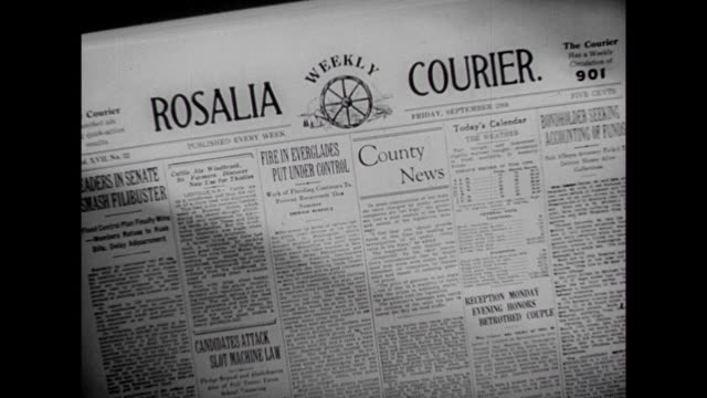1941 Montage of slowly growing newspaper circulation